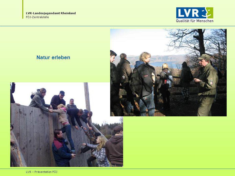 LVR-Landesjugendamt Rheinland FÖJ-Zentralstelle LVR – Präsentation FÖJ Natur erleben