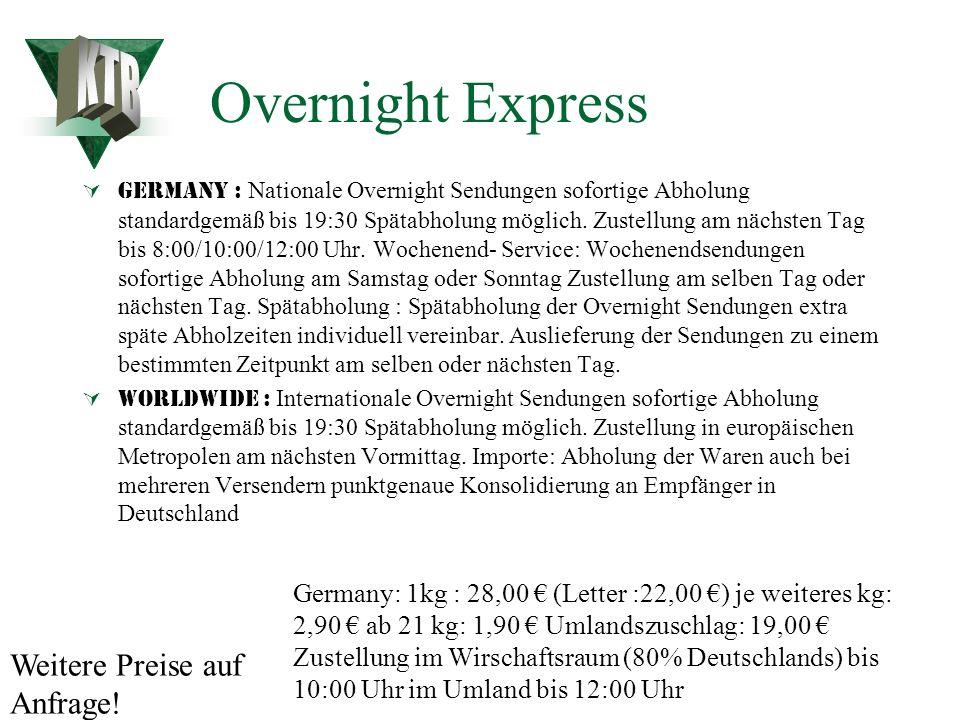 Kurierdienst Deutschlandweite Kurierfahrten mit PKW / Motorrad 24 Std. Bereitschaft Tagpreis pro km 0,41 Euro Nachtpreis pro km 0,47 Euro Wartezeit 15