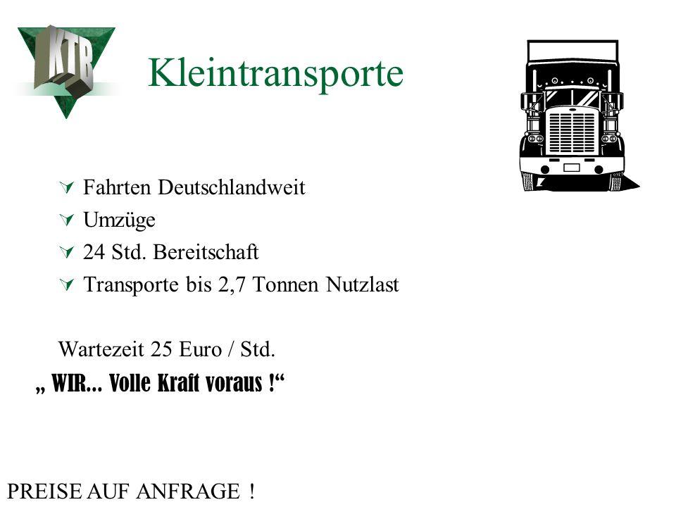 Overnight Express Germany : Nationale Overnight Sendungen sofortige Abholung standardgemäß bis 19:30 Spätabholung möglich. Zustellung am nächsten Tag