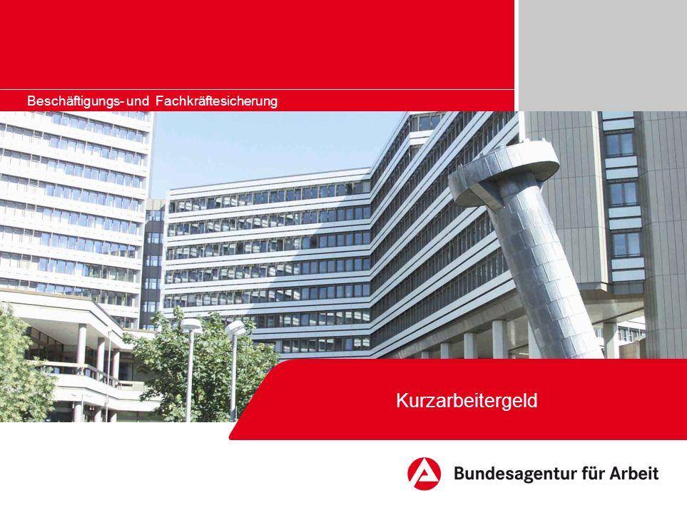Bildrahmen (Bild in Masterfolie einfügen) Kurzarbeitergeld - Voraussetzungen und Verfahren - Qualifizierung