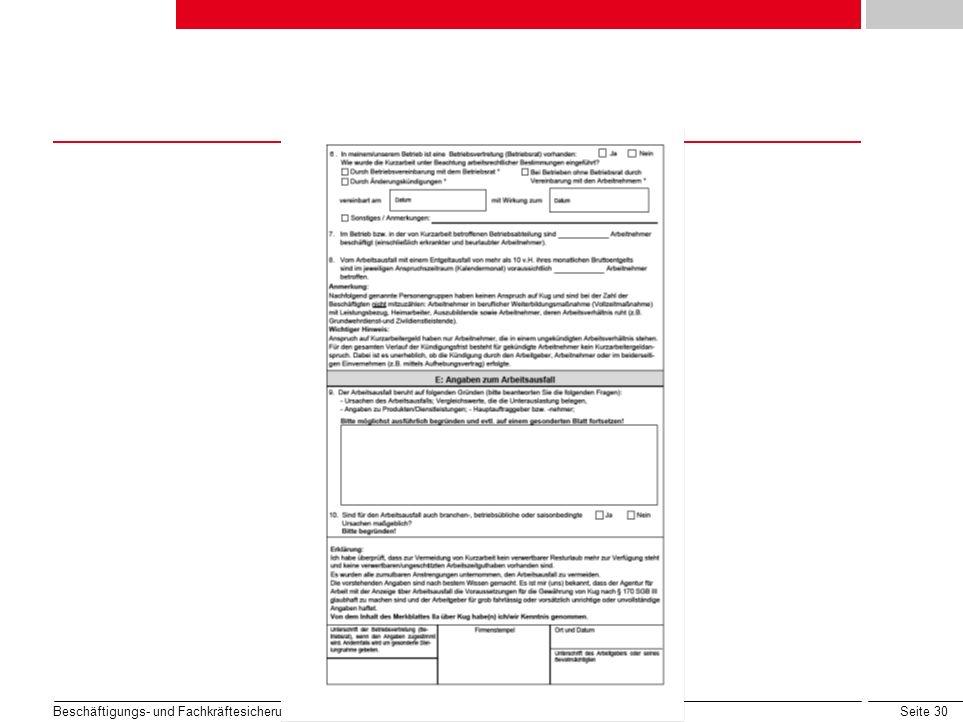 Seite 30 Beschäftigungs- und Fachkräftesicherung