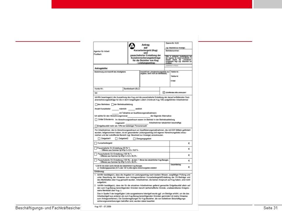 Seite 31 Beschäftigungs- und Fachkräftesicherung