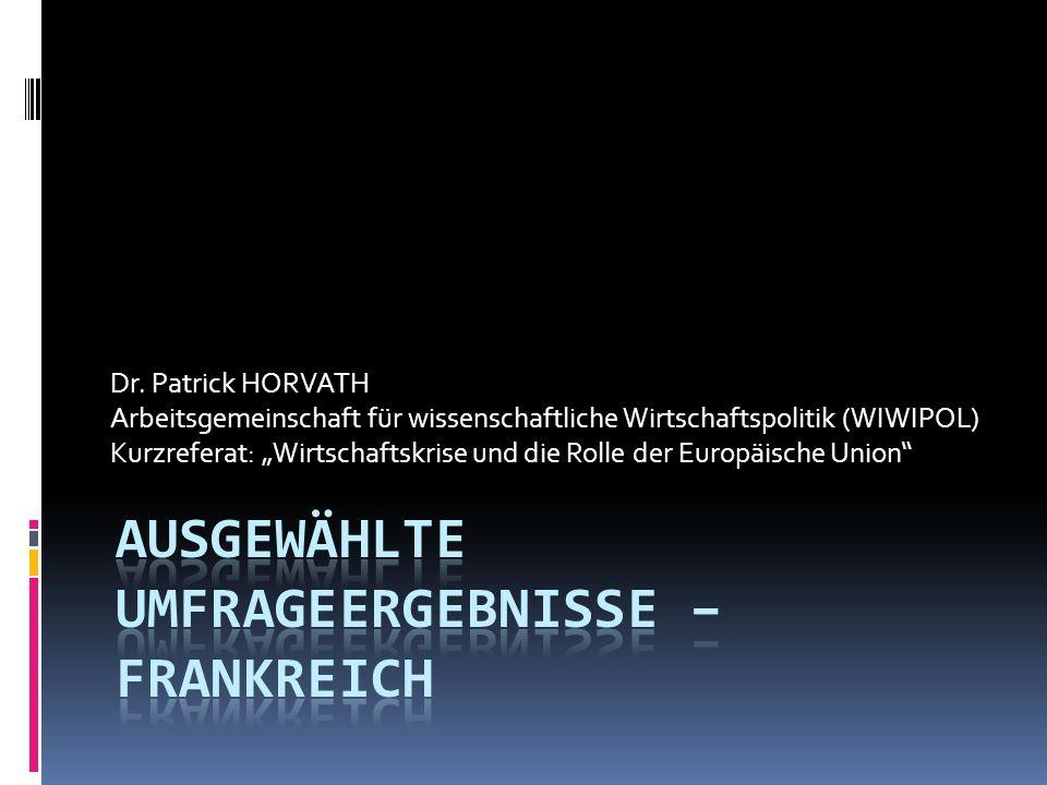 Dr. Patrick HORVATH Arbeitsgemeinschaft für wissenschaftliche Wirtschaftspolitik (WIWIPOL) Kurzreferat: Wirtschaftskrise und die Rolle der Europäische