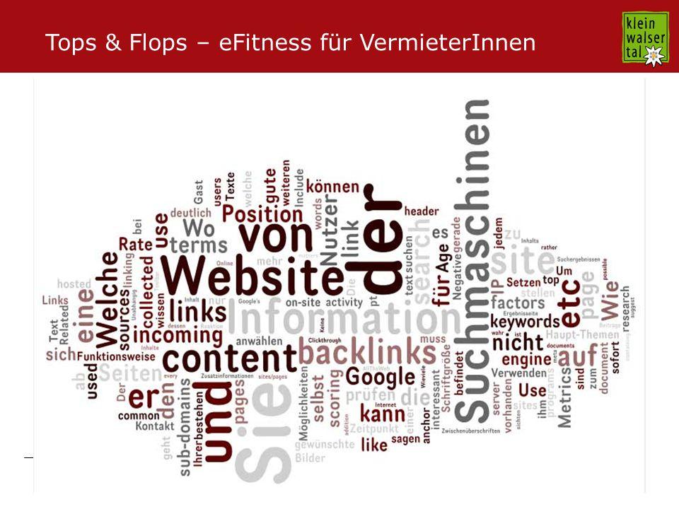 Seite 2 09.11.2009 Tops & Flops – eFitness für VermieterInnen