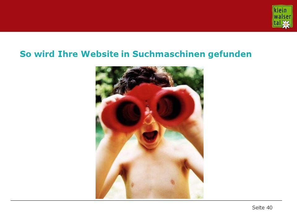 Seite 40 So wird Ihre Website in Suchmaschinen gefunden