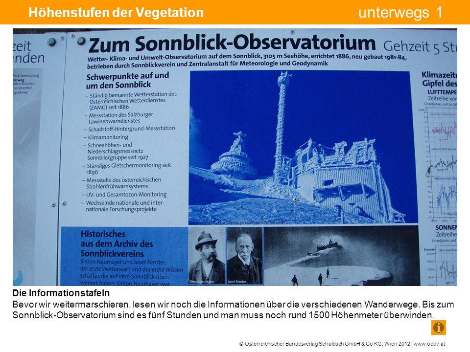 © Österreichischer Bundesverlag Schulbuch GmbH & Co KG, Wien 2012 | www.oebv.at unterwegs 1 Höhenstufen der Vegetation Die Mischwaldstufe Wir gehen zunächst durch den Wald.