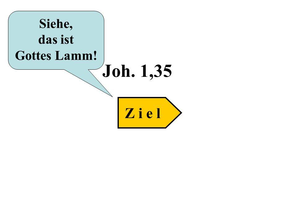 Joh. 1,35 Siehe, das ist Gottes Lamm! Z i e l