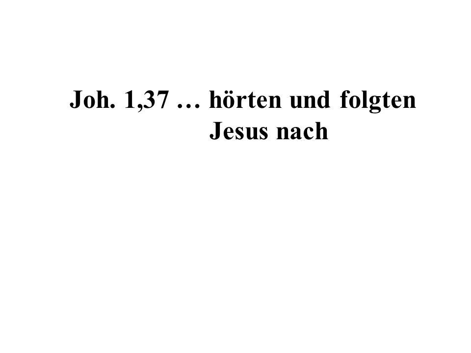 Joh. 1,37 … hörten und folgten Jesus nach
