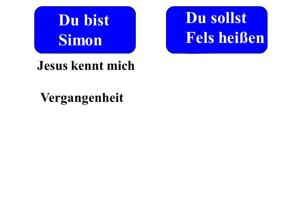 Du bist Simon Du sollst Fels heißen Jesus kennt mich Vergangenheit