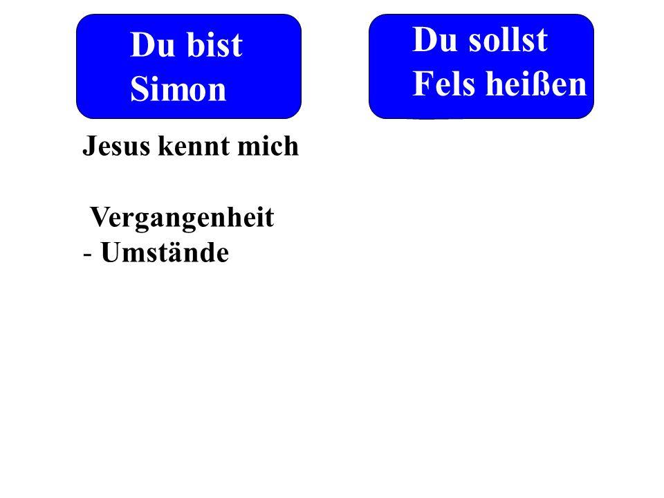 Du bist Simon Du sollst Fels heißen Jesus kennt mich Vergangenheit - Umstände
