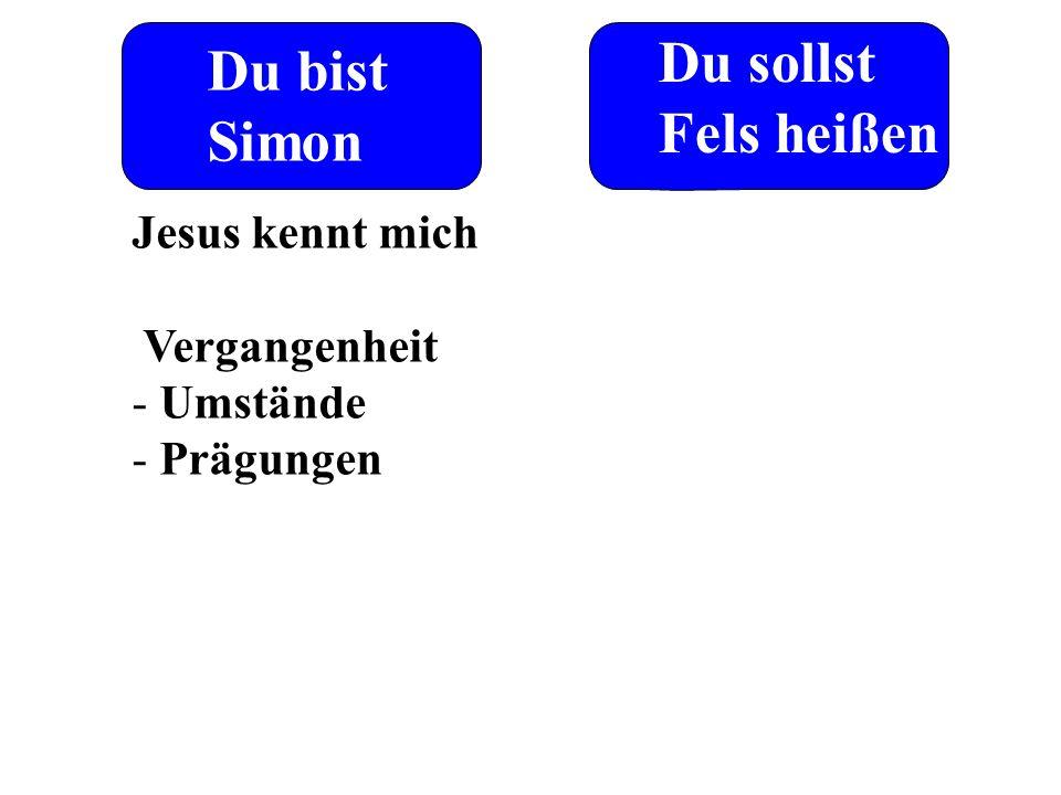 Du bist Simon Du sollst Fels heißen Jesus kennt mich Vergangenheit - Umstände - Prägungen
