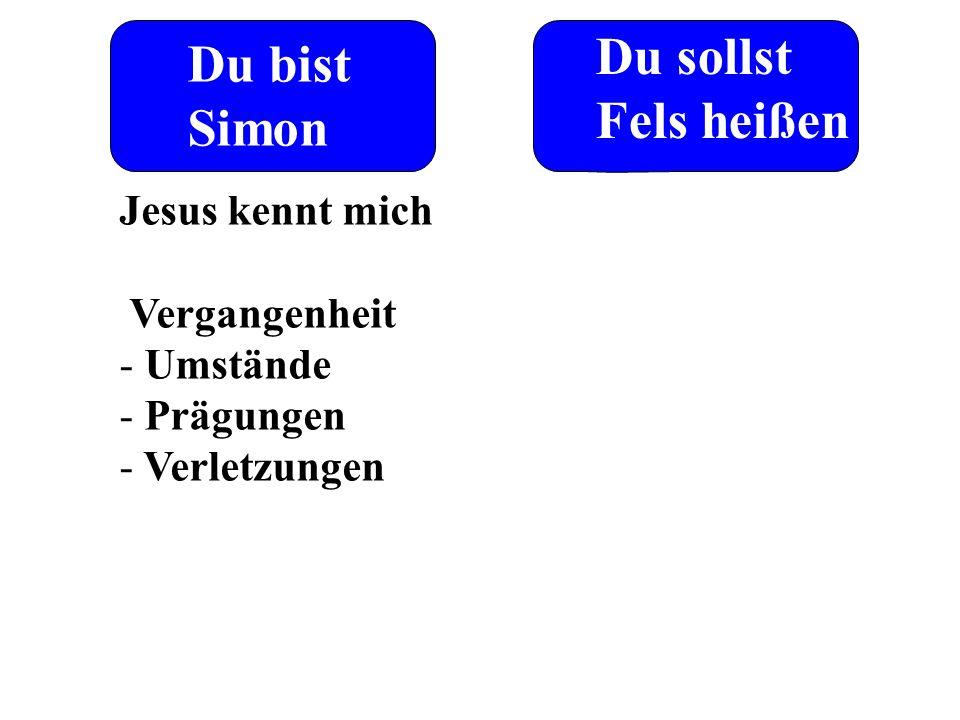 Du bist Simon Du sollst Fels heißen Jesus kennt mich Vergangenheit - Umstände - Prägungen - Verletzungen