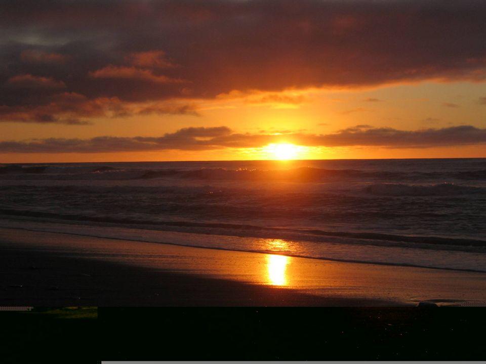 Der Kontrast könnte unterschiedlicher nicht sein, am Abend Sonnenuntergang am Meer und am Morgen bietet sich dieser schöne Anblick
