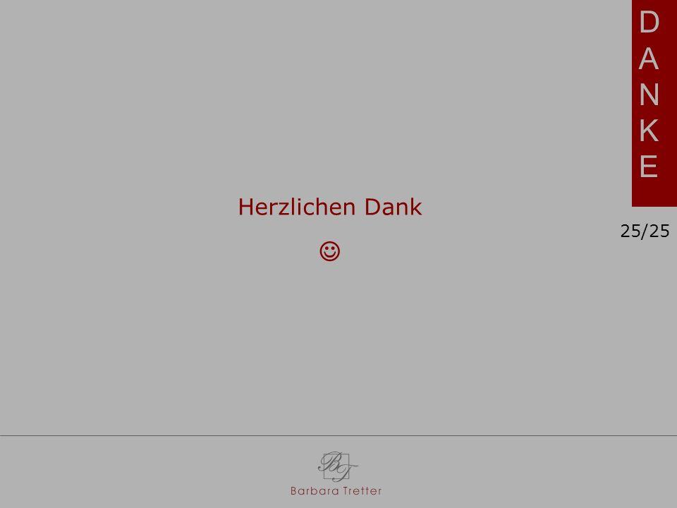 DANKEDANKE Herzlichen Dank 25/25
