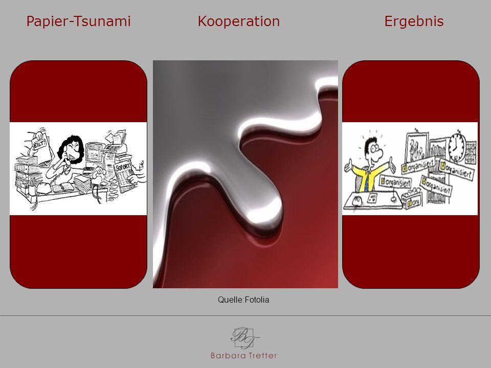 Papier-Tsunami Kooperation Ergebnis Quelle:Fotolia