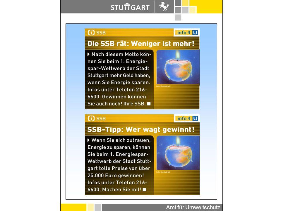 Amt für Umweltschutz Stuttgarter Wochenblatt 07.11.2002 Amtsblatt Stuttgart 27.02.2003 Pressemeldungen: