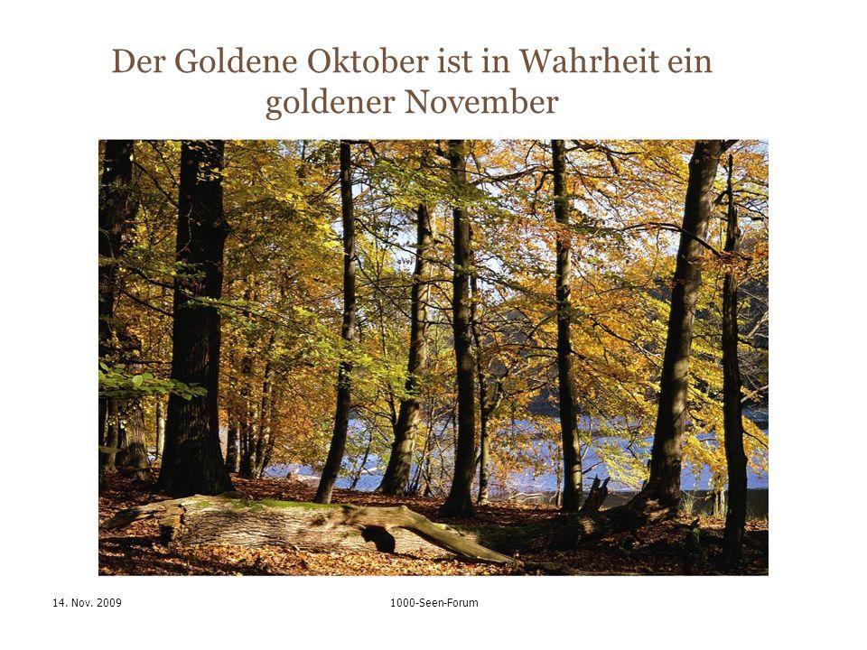 14. Nov. 20091000-Seen-Forum Der Goldene Oktober ist in Wahrheit ein goldener November