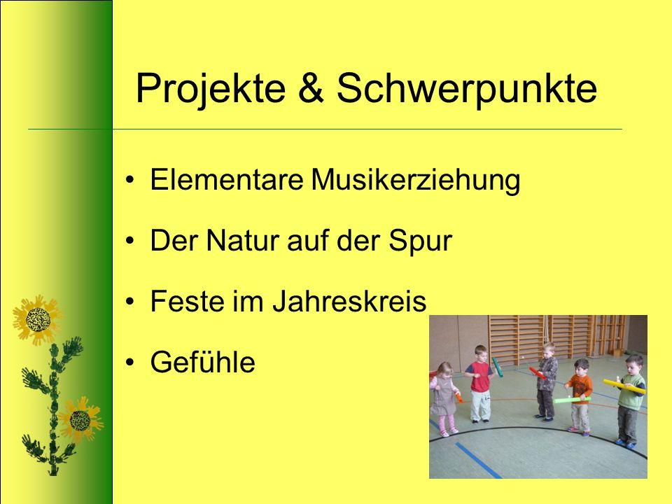 Projekte & Schwerpunkte Elementare Musikerziehung Der Natur auf der Spur Feste im Jahreskreis Gefühle