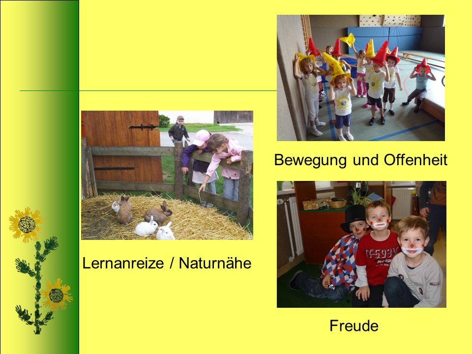 Lernanreize / Naturnähe Bewegung und Offenheit Freude