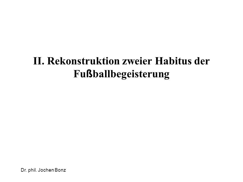 II. Rekonstruktion zweier Habitus der Fu ß ballbegeisterung