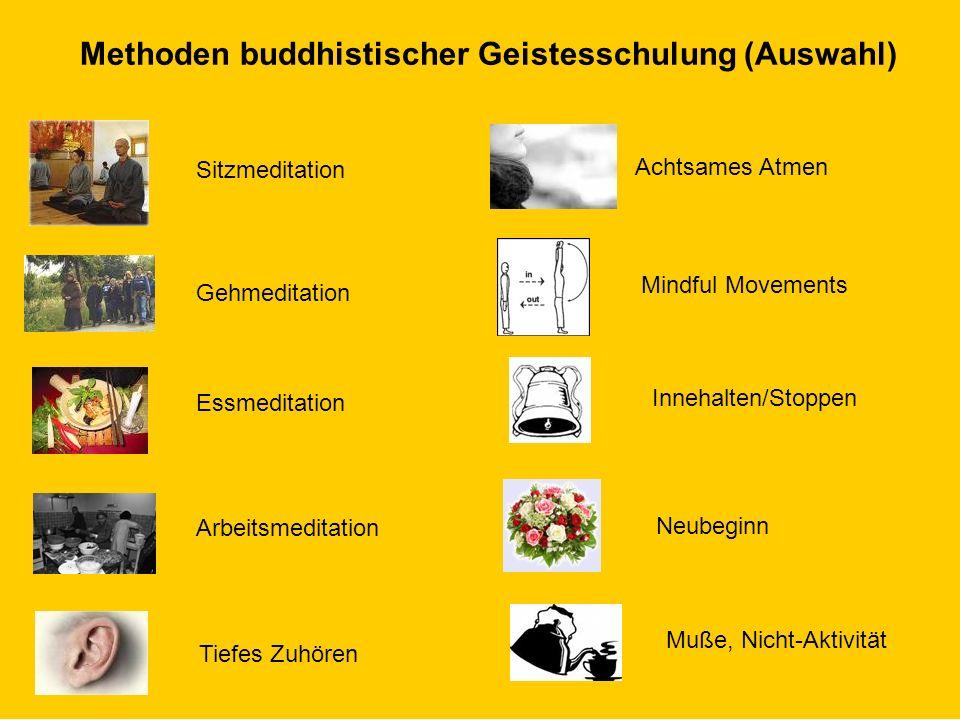 © Dr. Kai Romhardt www.romhardt.com www.achtsame-wirtschaft.de Methoden buddhistischer Geistesschulung (Auswahl) Sitzmeditation Gehmeditation Essmedit