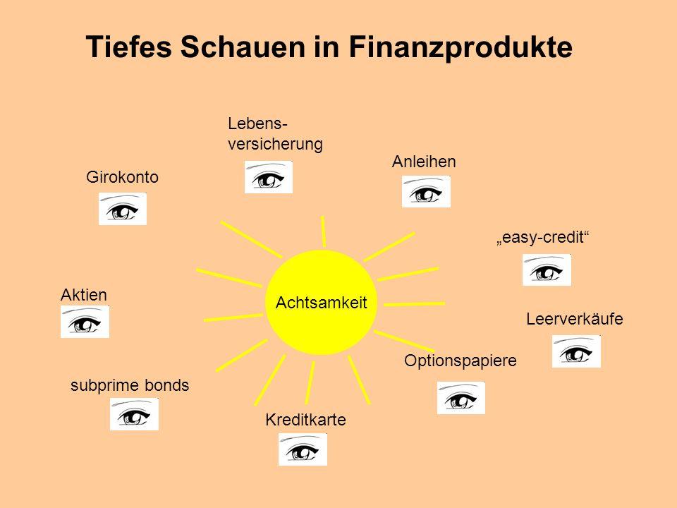 © Dr. Kai Romhardt www.romhardt.com www.achtsame-wirtschaft.de Tiefes Schauen in Finanzprodukte Girokonto Aktien Anleihen Optionspapiere subprime bond
