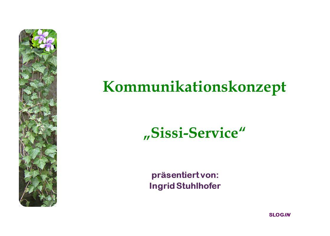 SLOGIN Kommunikationskonzept Sissi-Service präsentiert von: Ingrid Stuhlhofer