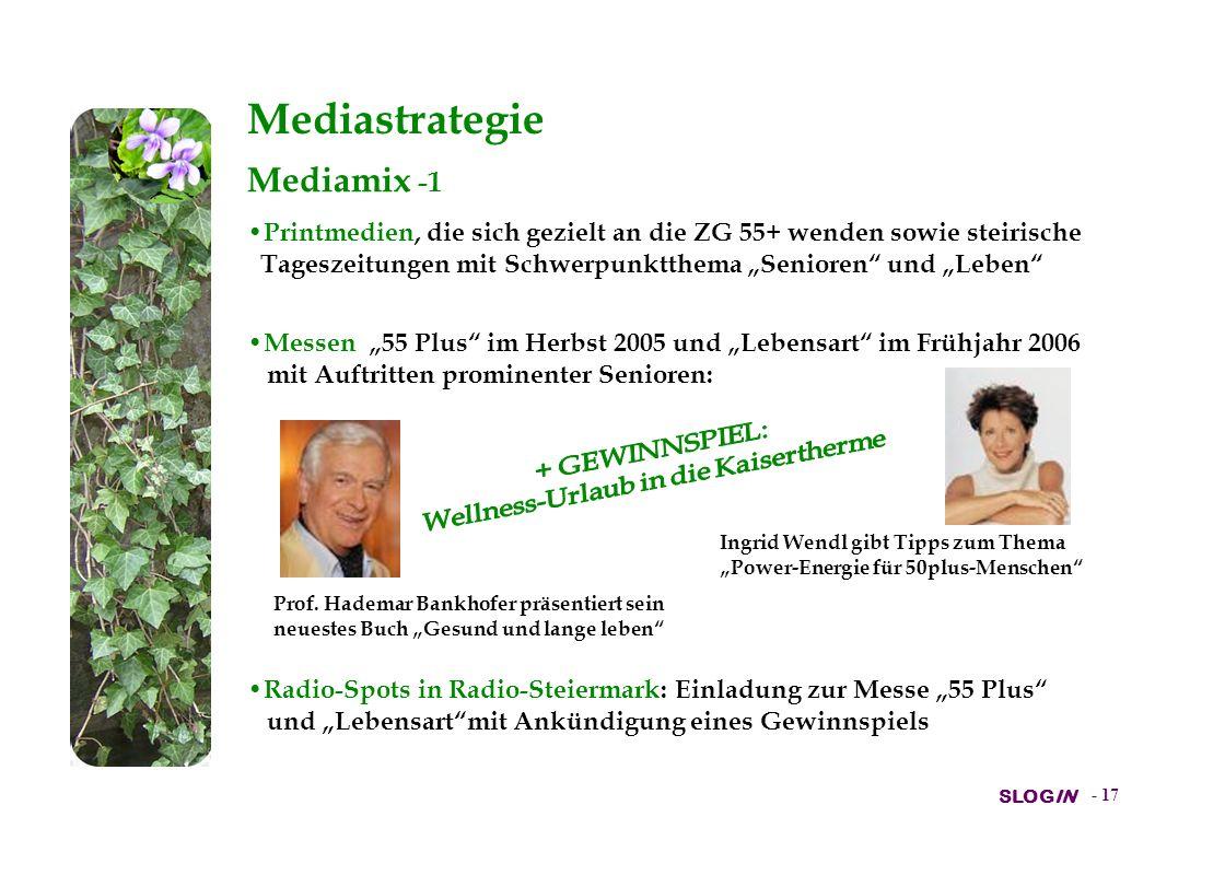 SLOGIN - 16 Kreative Umsetzung Sujet 3 Gut dran – gut drauf. Leben wie ein Kaiser! Sissi-Service Tel. 0316/11 22 www.sissi-service.at