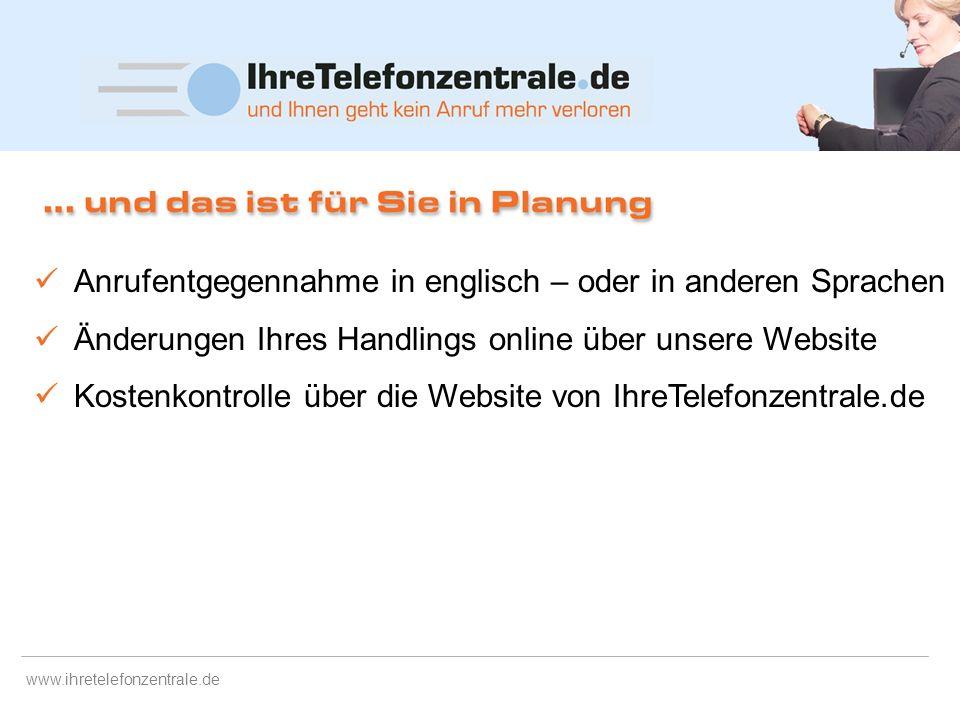 www.ihretelefonzentrale.de Ständige Erreichbarkeit. Bei erweiterten Service-Zeiten. Flexible Einsatzmöglichkeiten Professionelle Kundenbetreuung – auc