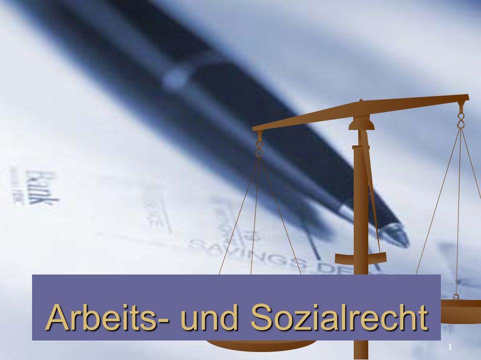 1 Arbeits- und Sozialrecht