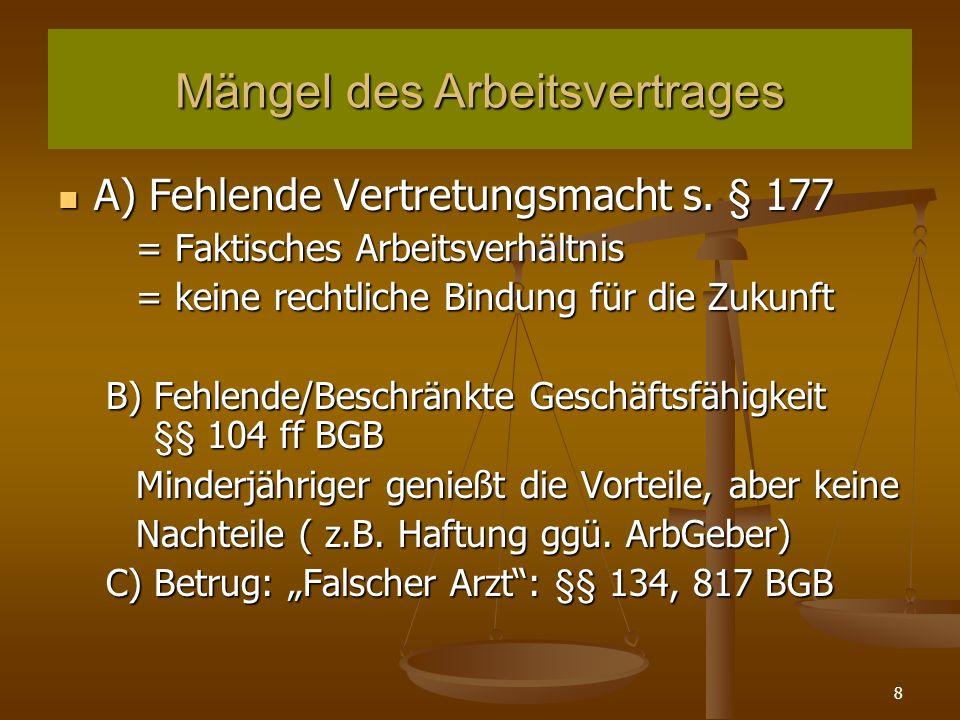 99 Kündigungsschutz nach dem KSchG 3.Betriebsbedingte Kündigung a.