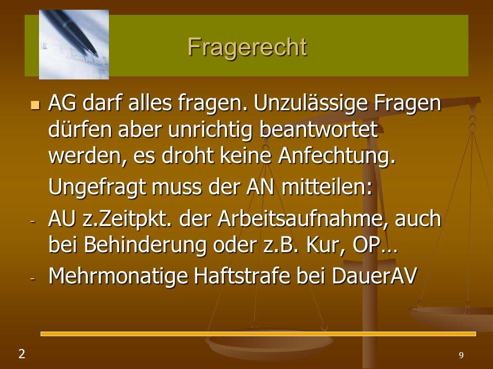 100 Kündigungsschutz nach dem KSchG b.