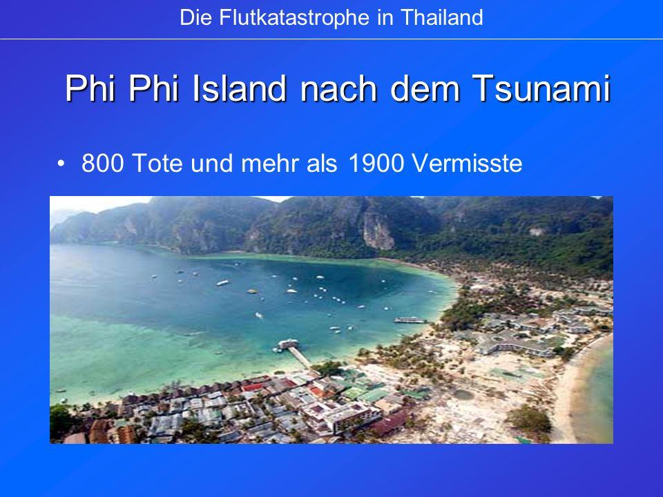 Phi Phi Island nach dem Tsunami Phi Phi Island nach dem Tsunami 800 Tote und mehr als 1900 Vermisste Die Flutkatastrophe in Thailand
