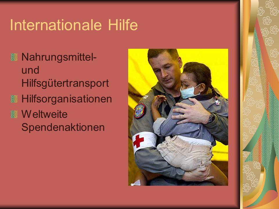 Internationale Hilfe Nahrungsmittel- und Hilfsgütertransport Hilfsorganisationen Weltweite Spendenaktionen