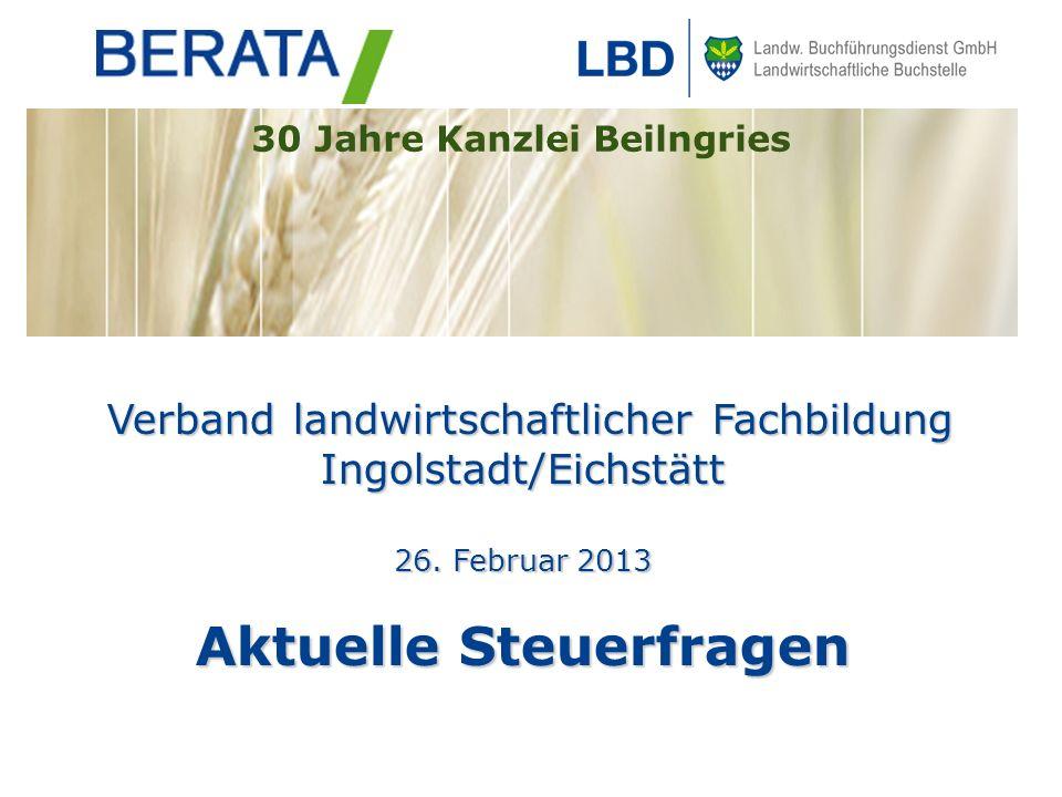 Seite 82 Betriebsausgabenpauschale nach § 51 EStDV Die neue 50-Hektargrenze sowie die Absenkung der Betriebsausgabenpauschale gelten erstmals für Wirtschaftsjahre, die nach dem 31.