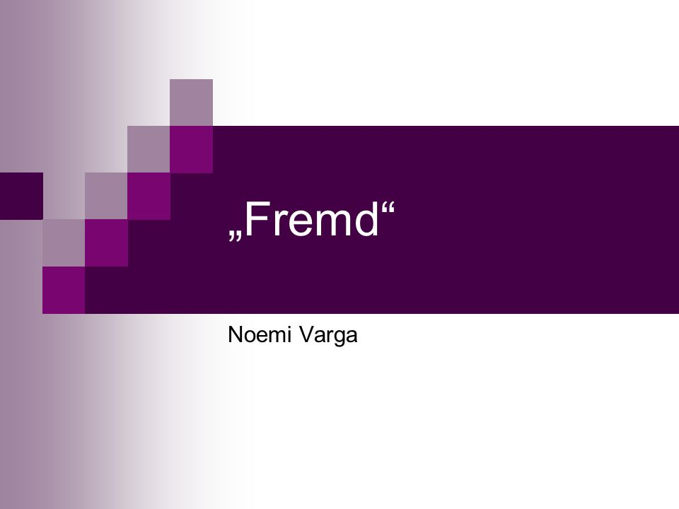 Fremd Noemi Varga