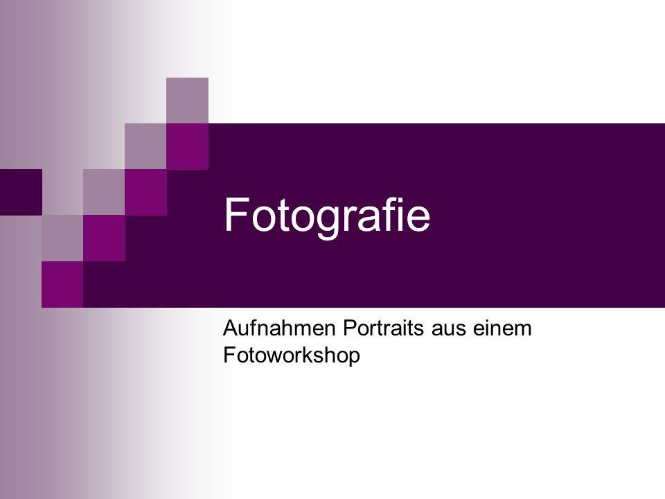 Fotografie Aufnahmen Portraits aus einem Fotoworkshop