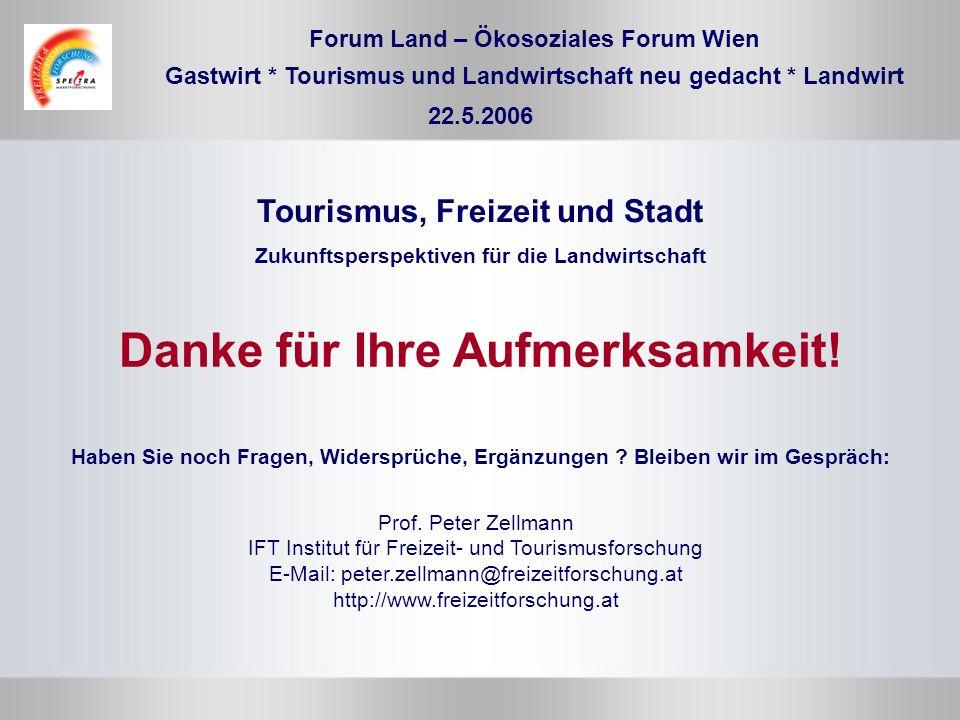 Prof. Peter Zellmann IFT Institut für Freizeit- und Tourismusforschung E-Mail: peter.zellmann@freizeitforschung.at http://www.freizeitforschung.at Hab