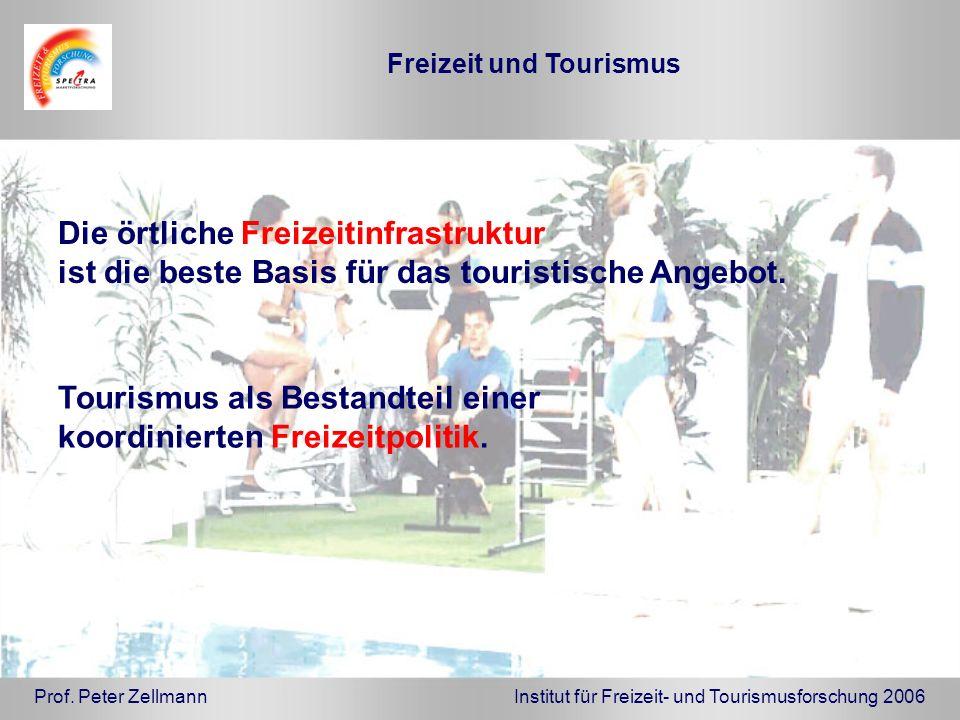 Die örtliche Freizeitinfrastruktur ist die beste Basis für das touristische Angebot. Tourismus als Bestandteil einer koordinierten Freizeitpolitik. Pr