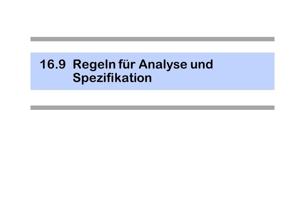 16.9Regeln für Analyse und Spezifikation