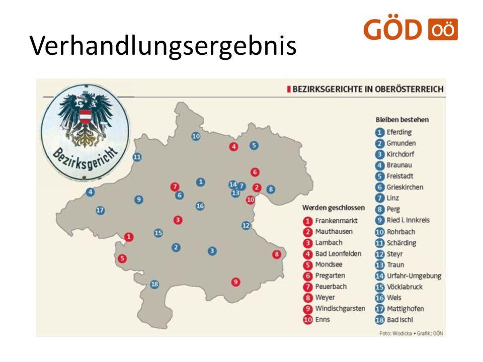 Strukturreform Ab 01.01.2013: – BG Linz NORD > BG Urfahr NEU – BG Urfahr Umgebung > BG Urfahr NEU – BG Leonfelden > BG Freistadt / BG Rohrbach – BG Lambach > BG Wels – BG Windischgarsten > BG Kirchdorf