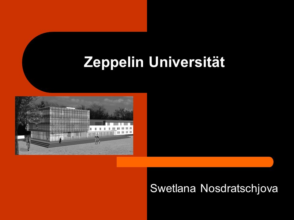 Zeppelin Universität Swetlana Nosdratschjova