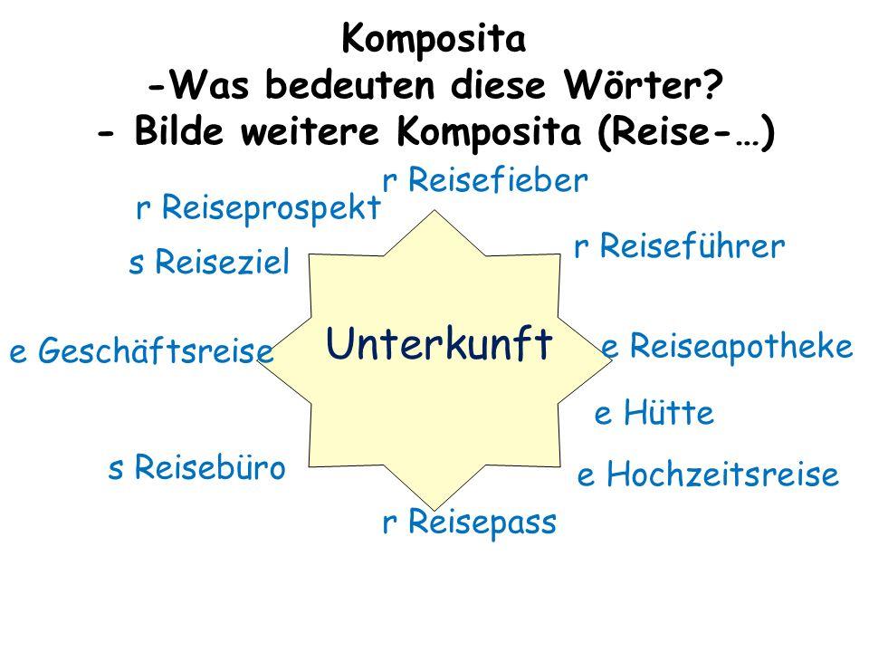 Komposita -Was bedeuten diese Wörter.