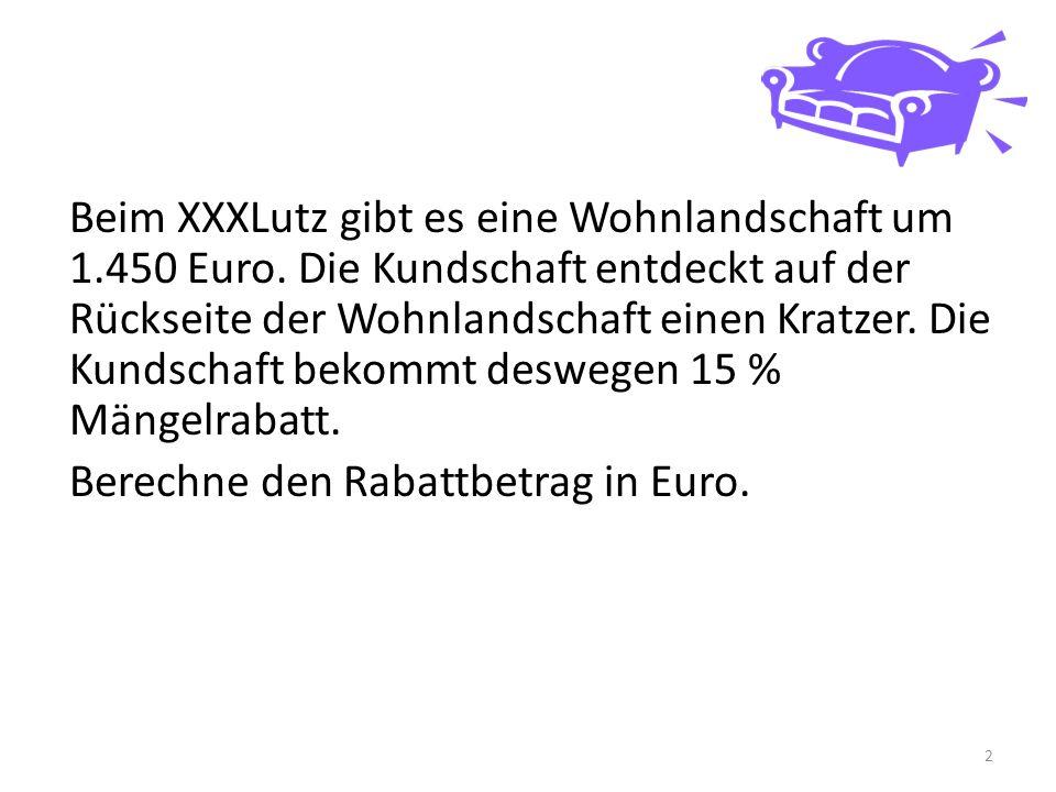 Beim XXXLutz gibt es eine Wohnlandschaft um 1.450 Euro.