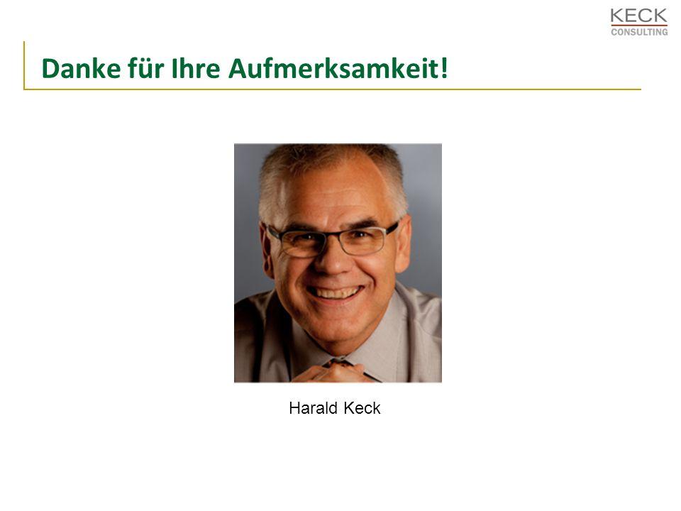 Danke für Ihre Aufmerksamkeit! Harald Keck
