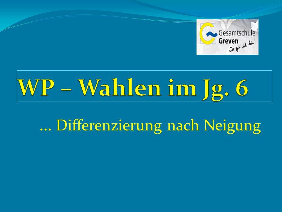 TOP (1) Grundlegende Informationen zur Differenzierung nach Neigung im Jg.