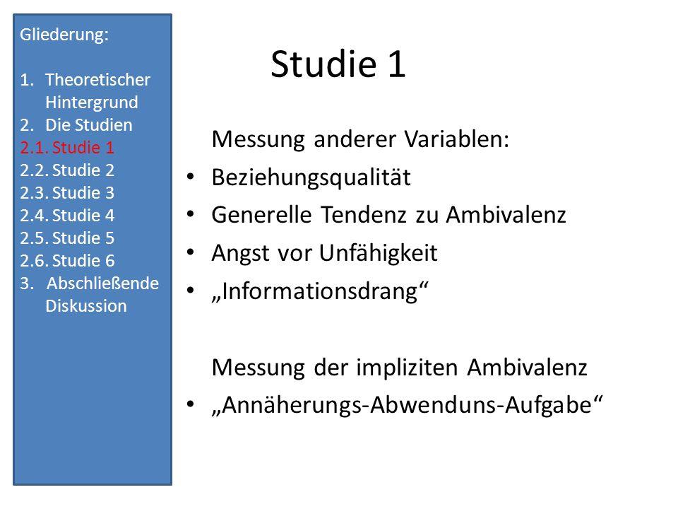 Annäherungs-Abwendungs- Aufgabe POSITIVNEGATIV IRRELEVANT FÜR BINDUNG z.B.
