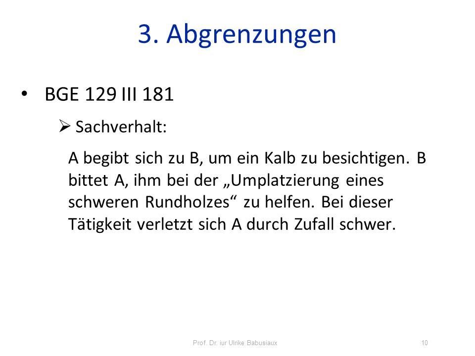 BGE 129 III 181 Sachverhalt: A begibt sich zu B, um ein Kalb zu besichtigen. B bittet A, ihm bei der Umplatzierung eines schweren Rundholzes zu helfen