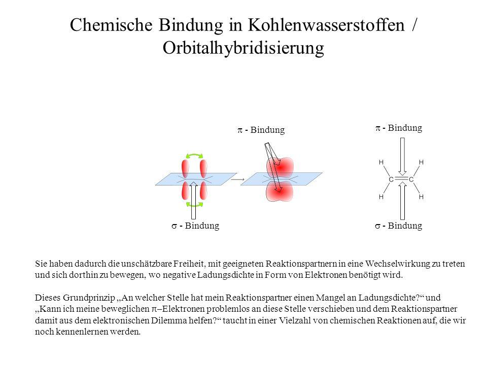 - Bindung - Bindung Chemische Bindung in Kohlenwasserstoffen / Orbitalhybridisierung - Bindung Sie haben dadurch die unschätzbare Freiheit, mit geeign