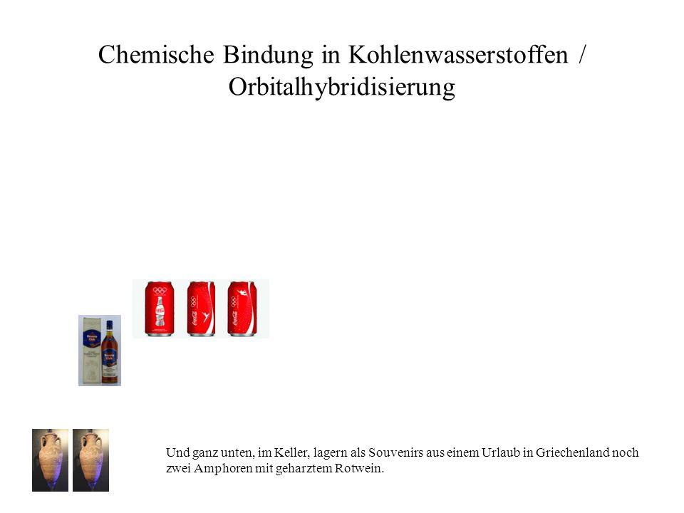 Chemische Bindung in Kohlenwasserstoffen / Orbitalhybridisierung Und ganz unten, im Keller, lagern als Souvenirs aus einem Urlaub in Griechenland noch